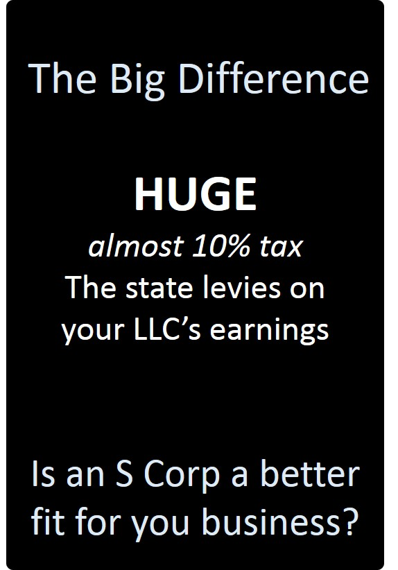 LLC or S Corp The Big Difference